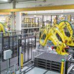 robot picking aluminum cans